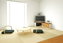 和紙素材の置き畳の画像