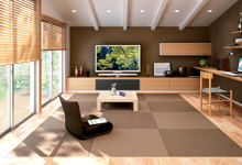 カラー樹脂素材の置き畳の画像