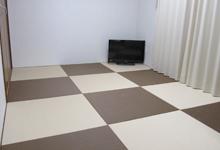 カラー樹脂素材の琉球畳の写真